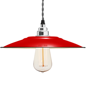 FLAT RED ENAMEL SHADE - LAMPSHADES - DYKE & DEAN  - Homewares | Lighting | Modern Home Furnishings