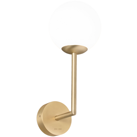 WALL ROD GLOBE LAMP BRASS 150mm