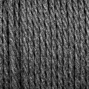 GREY FABRIC FLECKED TWISTED CABLE