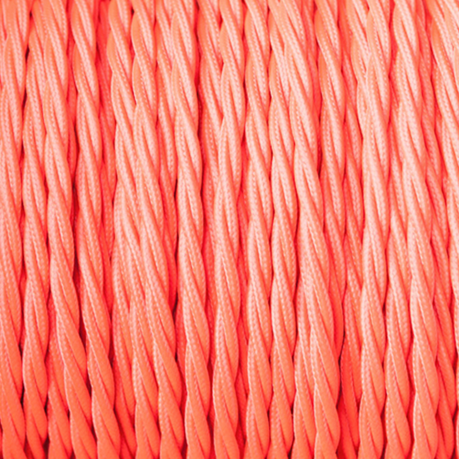 ELECTRIC RED TWISTED FABRIC CABLE - FABRIC CABLE - DYKE & DEAN  - Homewares | Lighting | Modern Home Furnishings