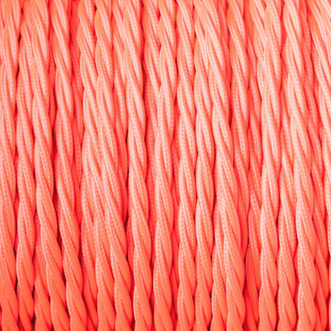 ELECTRIC RED TWISTED FABRIC CABLE