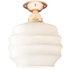 FIXED OPAL RIPPLE GLASS SHADE SMALL