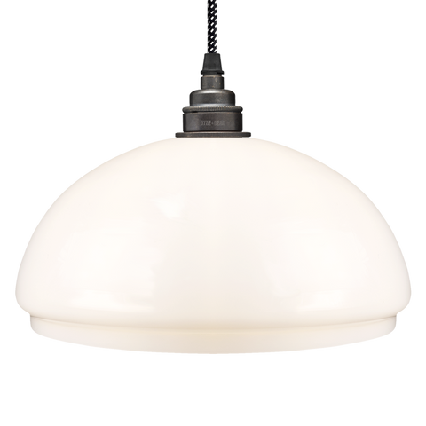 OPAL GLASS DOME LAMP SHADE SMALL - GLASS PENDANTS - DYKE & DEAN  - Homewares | Lighting | Modern Home Furnishings