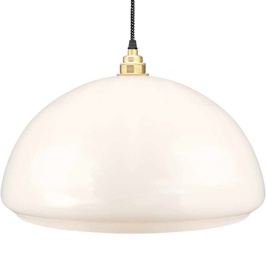 Dome Lamp Shades: OPAL GLASS DOME LAMP SHADE LARGE