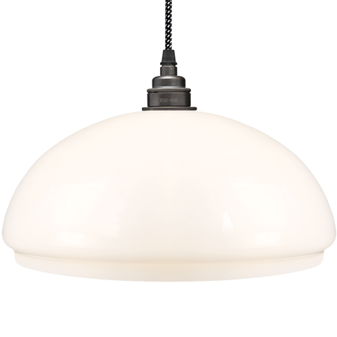 OPAL GLASS DOME LAMP SHADE MEDIUM - GLASS PENDANTS - DYKE & DEAN  - Homewares | Lighting | Modern Home Furnishings