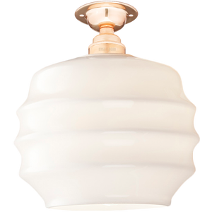 FIXED OPAL RIPPLE GLASS SHADE MEDIUM