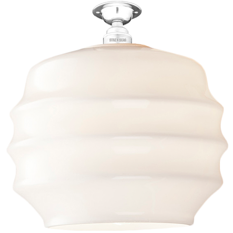 FIXED OPAL RIPPLE GLASS SHADE LARGE