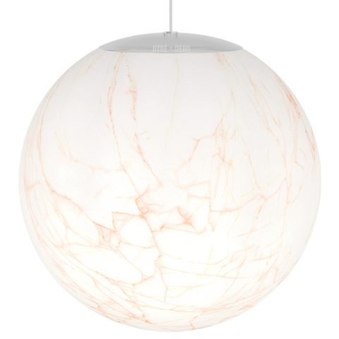 OPAL MARBLE GLOBE CORAL PENDANT 400mm