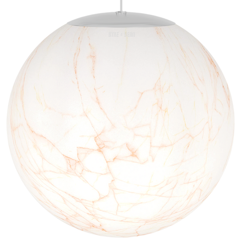 OPAL MARBLE GLOBE CORAL PENDANT 500mm
