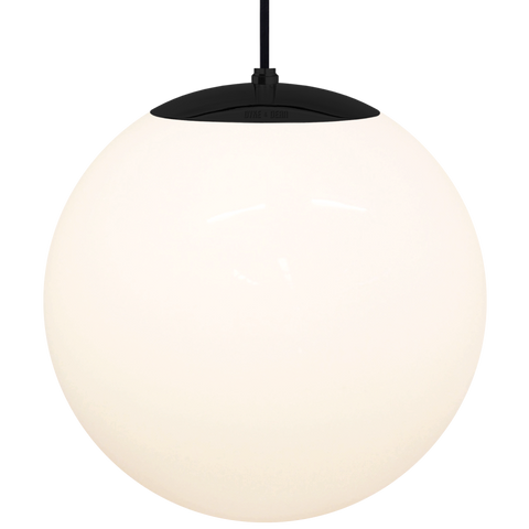 OPAL GLOBE PENDANT BLACK 400mm - GLASS PENDANTS - DYKE & DEAN  - Homewares | Lighting | Modern Home Furnishings