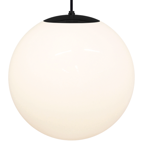 OPAL GLOBE PENDANT BLACK 500mm - GLASS PENDANTS - DYKE & DEAN  - Homewares | Lighting | Modern Home Furnishings