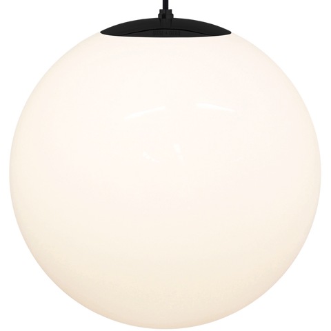 OPAL GLOBE PENDANT BLACK 600mm - GLASS PENDANTS - DYKE & DEAN  - Homewares | Lighting | Modern Home Furnishings