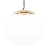 OPAL GLOBE PENDANT BRASS 300mm