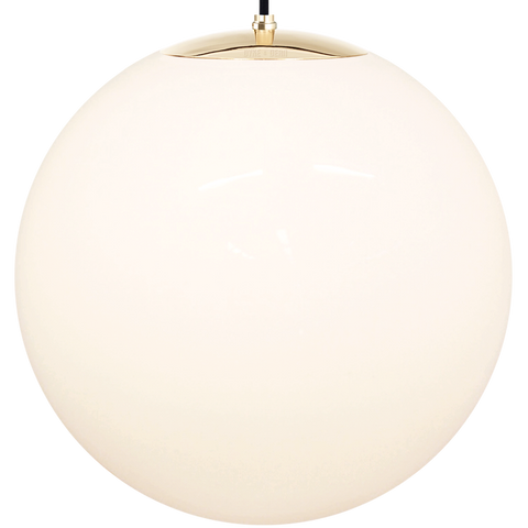 OPAL GLOBE PENDANT BRASS 600mm - GLASS PENDANTS - DYKE & DEAN  - Homewares | Lighting | Modern Home Furnishings