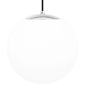 OPAL GLOBE PENDANT CHROME 400mm
