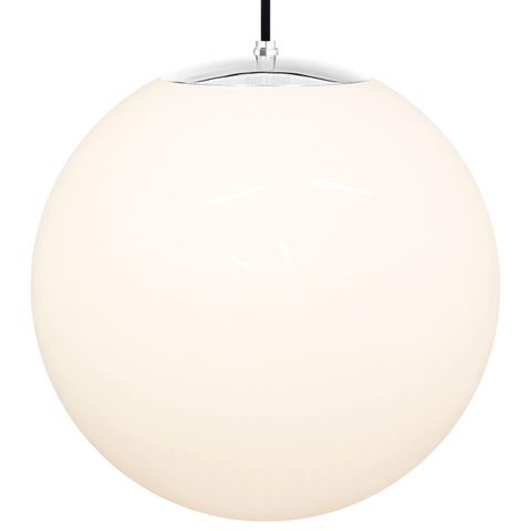 OPAL GLOBE PENDANT CHROME 500mm - GLASS PENDANTS - DYKE & DEAN  - Homewares | Lighting | Modern Home Furnishings