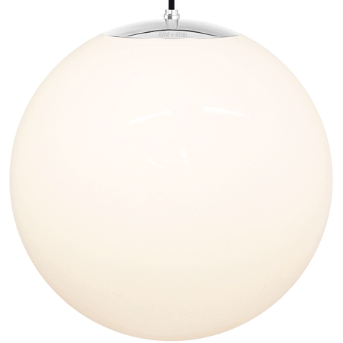 OPAL GLOBE PENDANT CHROME 600mm - GLASS PENDANTS - DYKE & DEAN  - Homewares | Lighting | Modern Home Furnishings