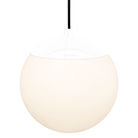 OPAL GLOBE PENDANT WHITE 200mm - GLASS PENDANTS - DYKE & DEAN  - Homewares | Lighting | Modern Home Furnishings