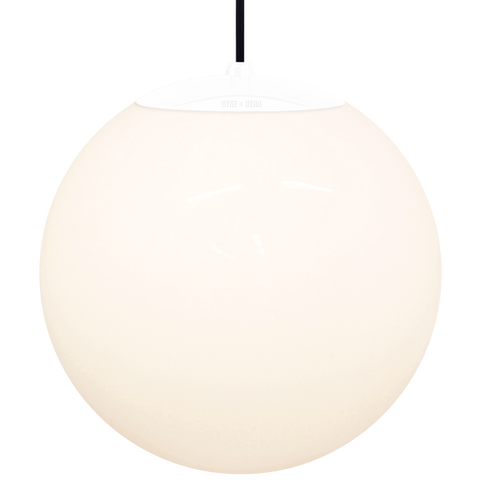 OPAL GLOBE PENDANT WHITE 400mm - GLASS PENDANTS - DYKE & DEAN  - Homewares | Lighting | Modern Home Furnishings
