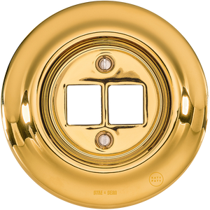 PORCELAIN WALL SOCKET GOLD PC/USB