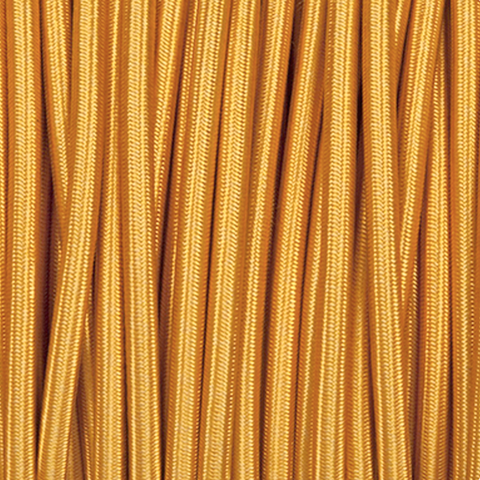 BRIGHT GOLD ROUND FABRIC CABLE - FABRIC CABLE - DYKE & DEAN  - Homewares | Lighting | Modern Home Furnishings