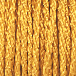 BRIGHT GOLD TWISTED FABRIC CABLE