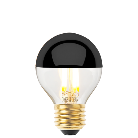 DYKE & DEAN LED BLACK CAP E27 GOLF BALL BULB - BULBS - DYKE & DEAN  - Homewares | Lighting | Modern Home Furnishings