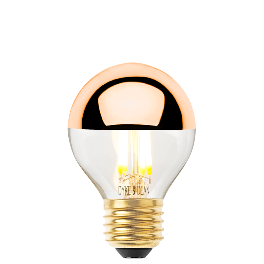 DYKE & DEAN LED COPPER CAP E27 GOLF BALL BULB