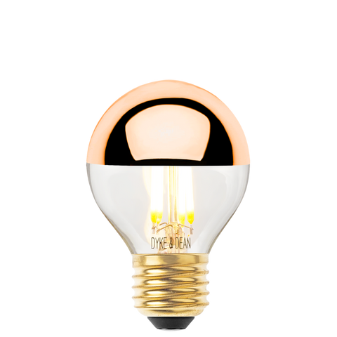 DYKE & DEAN LED COPPER CAP E27 GOLF BALL BULB - BULBS - DYKE & DEAN  - Homewares | Lighting | Modern Home Furnishings