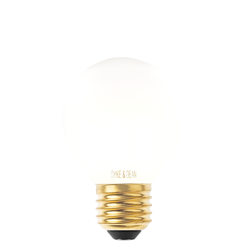 DYKE & DEAN LED FILAMENT GOLF BALL FROSTED E27 BULB
