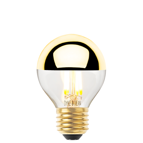 DYKE & DEAN LED GOLD CAP GOLF BALL E27 BULB - BULBS - DYKE & DEAN  - Homewares | Lighting | Modern Home Furnishings