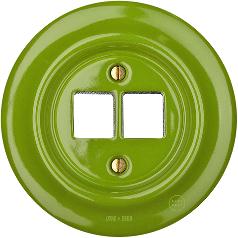 PORCELAIN WALL SOCKET GREEN PC/USB