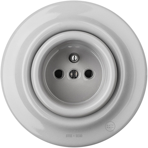 PORCELAIN WALL SOCKET GREY