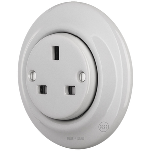 PORCELAIN WALL SOCKET GREY UK