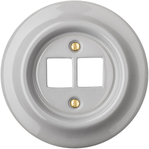 PORCELAIN WALL SOCKET GREY PC/USB