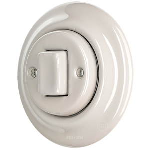 PORCELAIN WALL SWITCH CAPPUCCINO FAT BUTTON