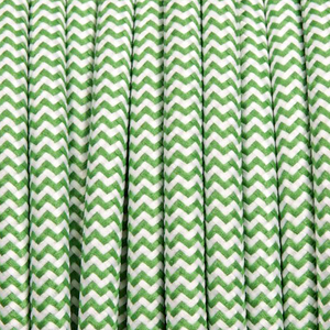 GREEN ZIG ZAG ROUND FABRIC CABLE