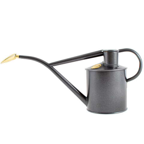 INDOOR METAL WATERING CAN GREY