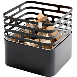 CUBE FIRE BASKET & GRILL BLACK - UTILITY - DYKE & DEAN  - Homewares | Lighting | Modern Home Furnishings