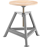 DYKE & DEAN SHOP SWIVEL STOOL