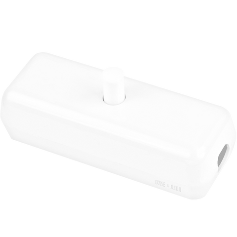 WHITE DECO INLINE CABLE SWITCH