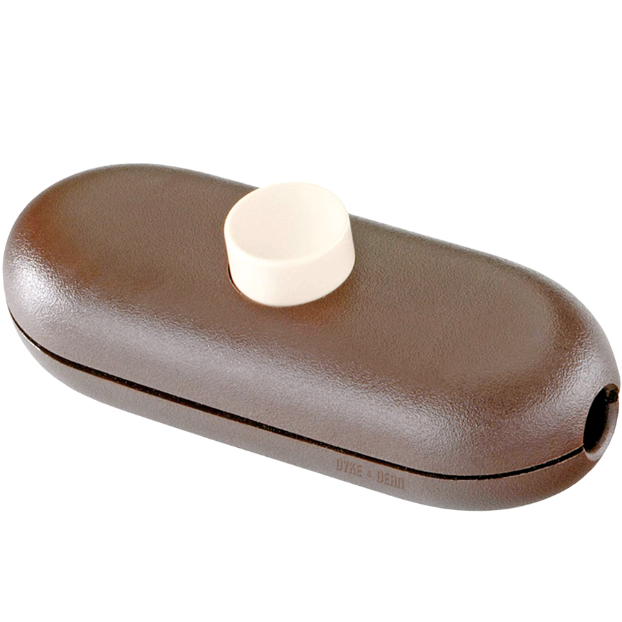 BROWN BUTTON INLINE CABLE LAMP SWITCH