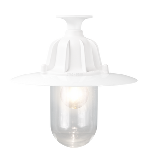 CAST LANTERN PENDANT WHITE FIXED - BATHROOM / OUTDOOR LIGHTS - DYKE & DEAN  - Homewares | Lighting | Modern Home Furnishings