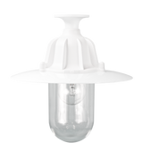 CAST LANTERN PENDANT WHITE FIXED