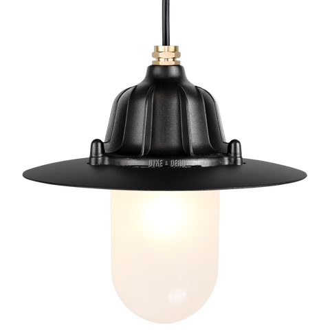 CAST SHADE LANTERN BLACK FROSTED - BATHROOM / OUTDOOR LIGHTS - DYKE & DEAN  - Homewares | Lighting | Modern Home Furnishings