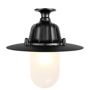 CAST LANTERN PENDANT FIXED FROSTED BLACK - BATHROOM / OUTDOOR LIGHTS - DYKE & DEAN  - Homewares | Lighting | Modern Home Furnishings