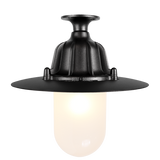 CAST LANTERN PENDANT FIXED FROSTED BLACK