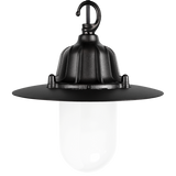 CAST SHADE LANTERN BLACK FROSTED