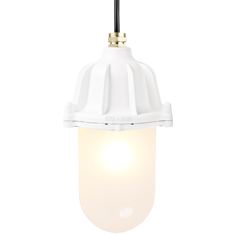 CAST LANTERN FROSTED PENDANT WHITE