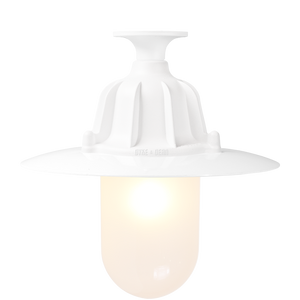 CAST LANTERN PENDANT WHITE FROSTED FIXED